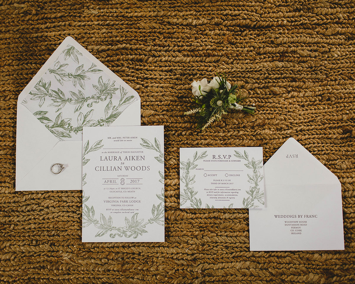wedding-invitations-ireland - Weddings by Franc